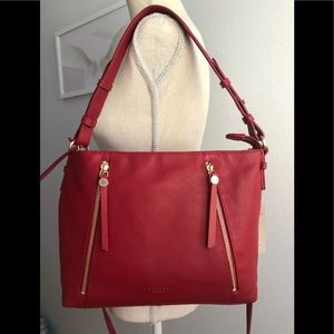 New Radley London Fountain Road Red Leather Bag